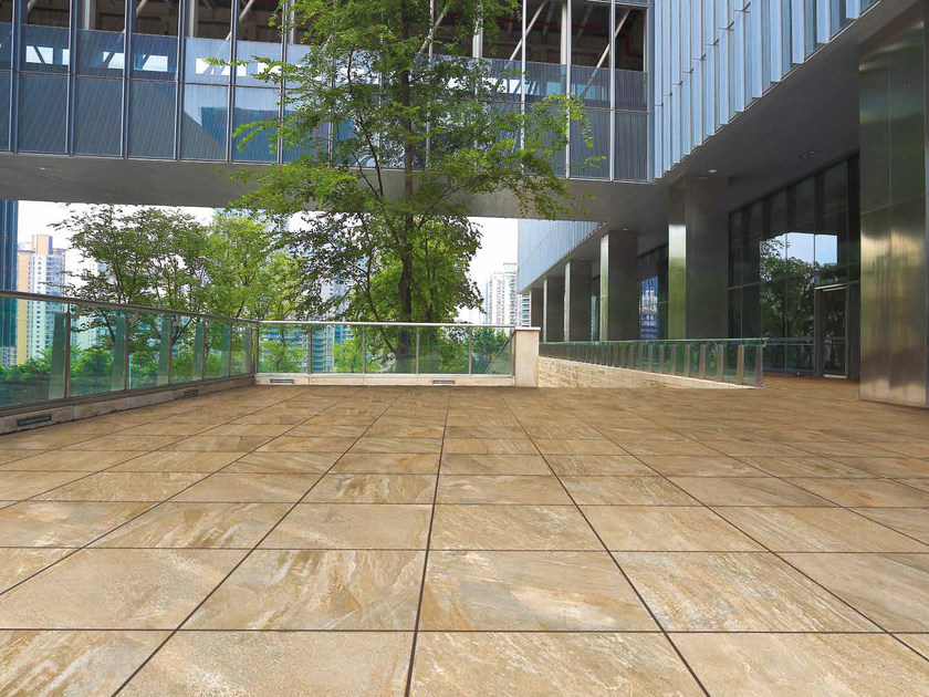 Porcelain stoneware outdoor floor tiles with stone effect GOLDENSTONE by RECORD - BAGATTINI