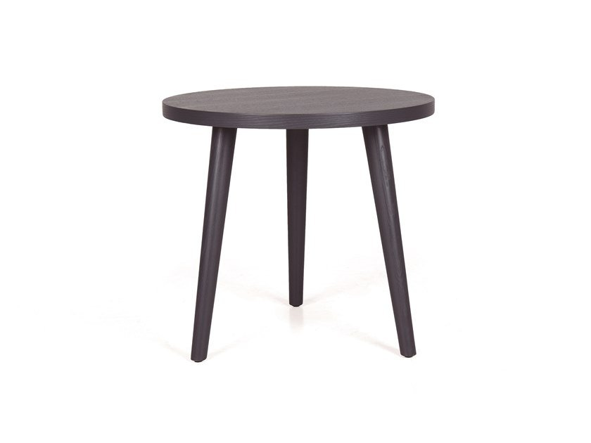 Oval wooden coffee table GOMO SIDE RED H55 by Fenabel