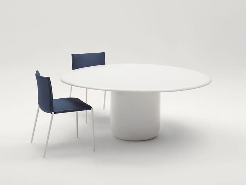 Tavolo da giardino rotondo in acciaio GON   Tavolo rotondo by Paola Lenti