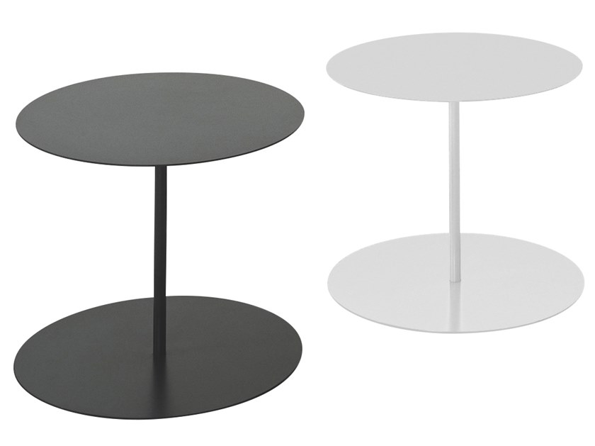 Detachable round plate coffee table GONG by Cappellini