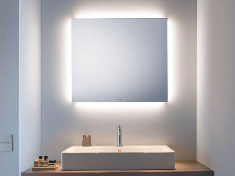 Specchio con illuminazione integrata da parete per bagno good