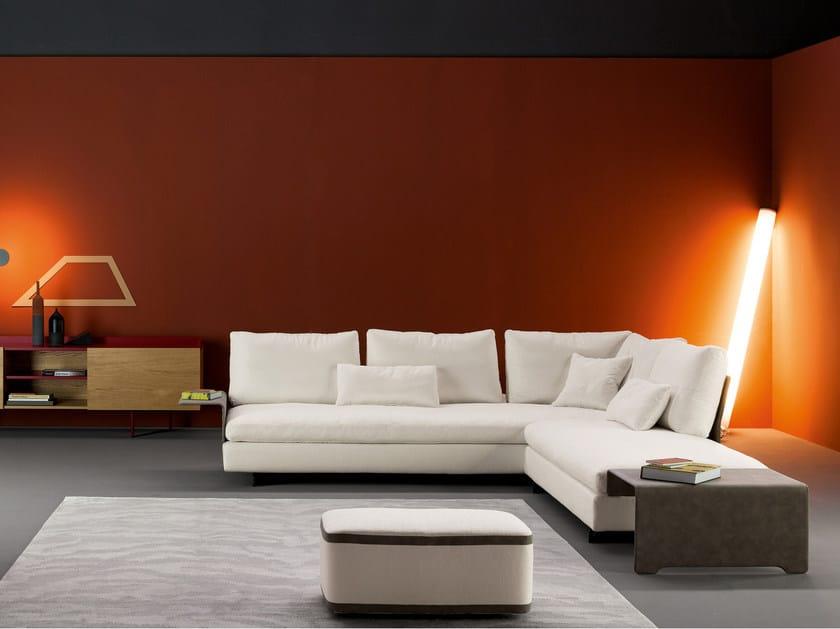 Corner upholstered fabric sofa with removable cover GOSSIP | Corner sofa by Bonaldo