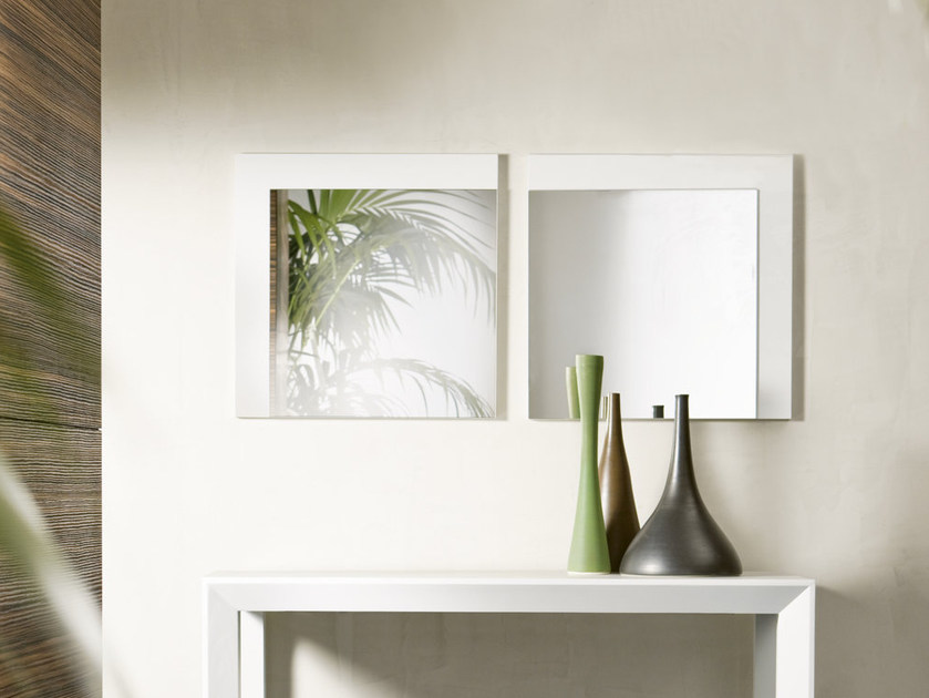 Square wall-mounted mirror GOSSIP by Pacini & Cappellini