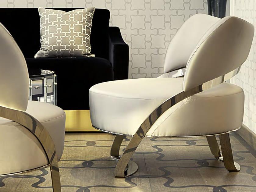 Upholstered velvet armchair GOTHAM by Formitalia