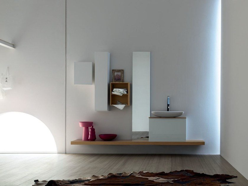 Sistema bagno componibile GOYA - COMPOSIZIONE 32 by Arcom