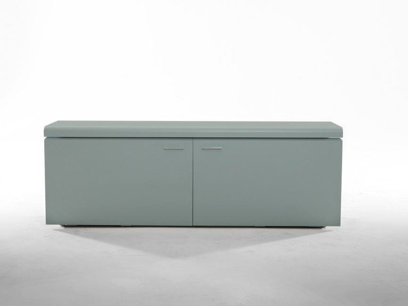 Melamine-faced chipboard sideboard with integrated lighting GOYA by Tonin Casa