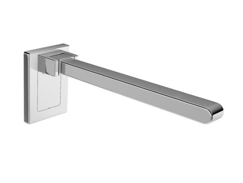 Folding metal toilet grab bar SUPPORT | Grab bar by HEWI