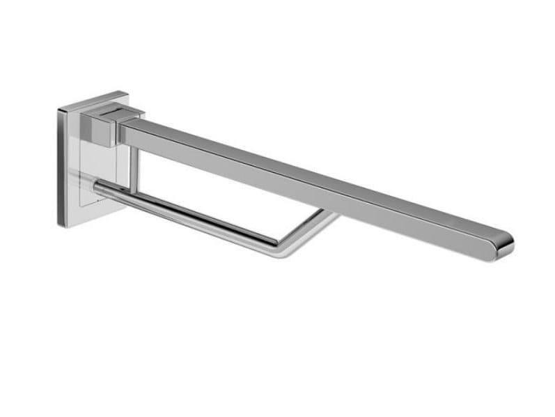 Folding metal toilet grab bar SUPPORT | Grab bar by HEWI