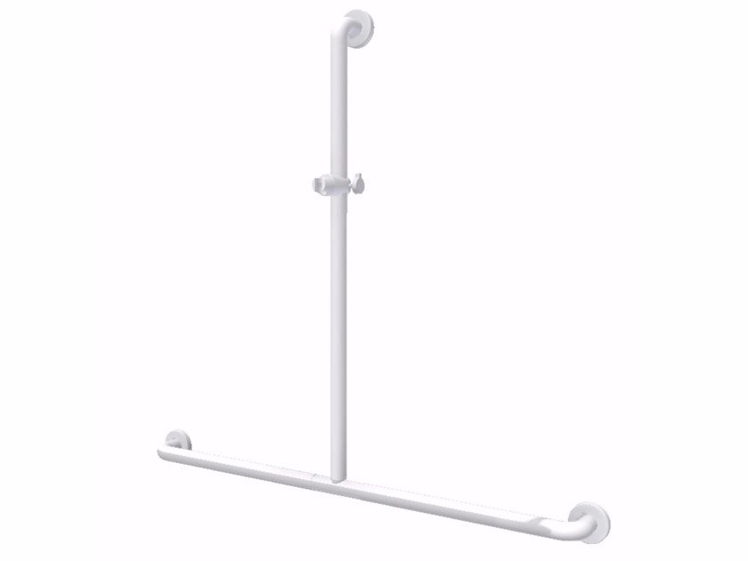 Powder coated aluminium shower grab bar T Shaped shower rail by Ropox