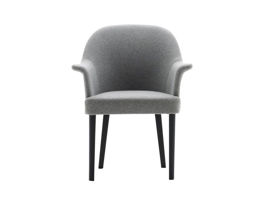 Upholstered chair with armrests GRACE 03431 by Montbel