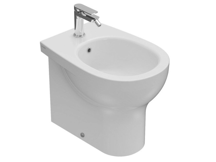 Back to wall Floor mounted ceramic bidet GRACE | Back to wall bidet by Ceramica Globo