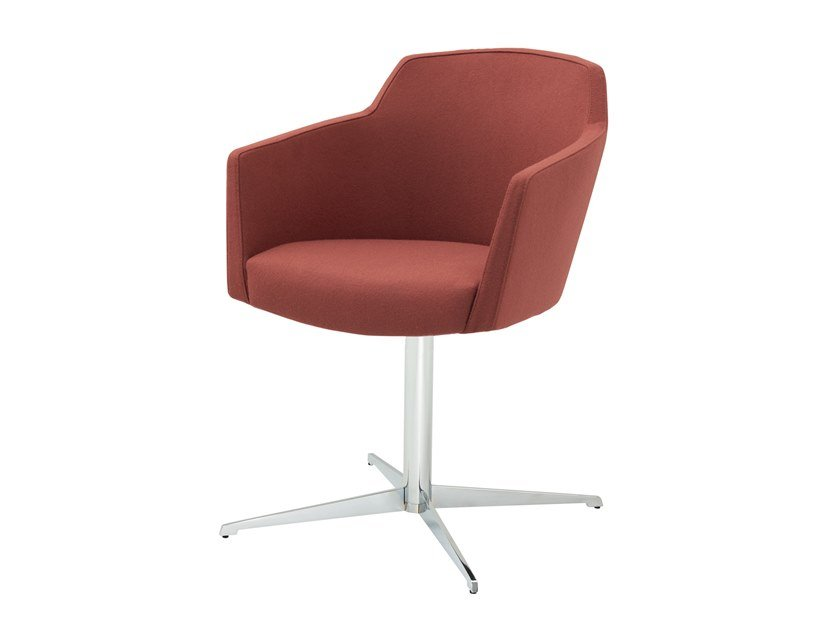 Upholstered fabric easy chair with 4-spoke base GRACE   Easy chair with 4-spoke base by Segis