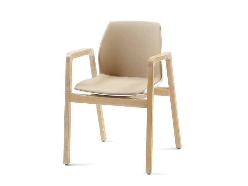 Polypropylene chair with armrests GRACE PP 01 + A by Z-Editions
