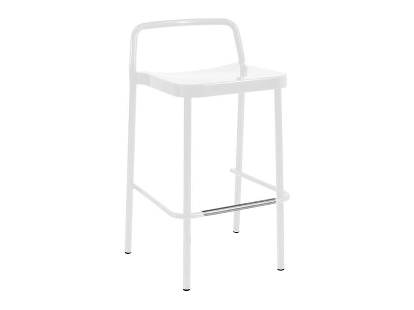 High stackable aluminium garden stool GRACE | Stool by emu