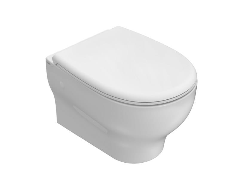 Wall-hung rimless ceramic toilet GRACE | Rimless toilet by Ceramica Globo