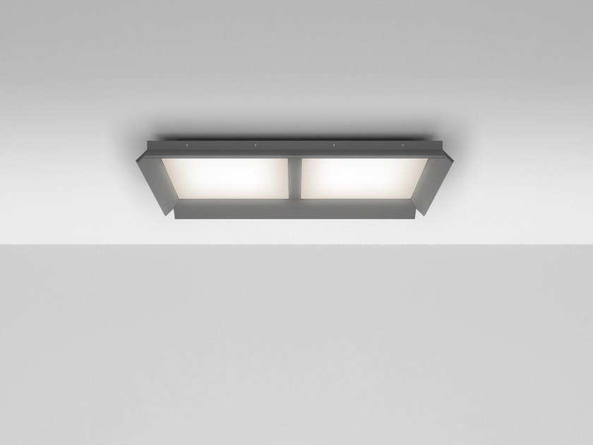 LED direct light aluminium ceiling lamp GRADIAN 1200 X 600 | Ceiling lamp by Artemide