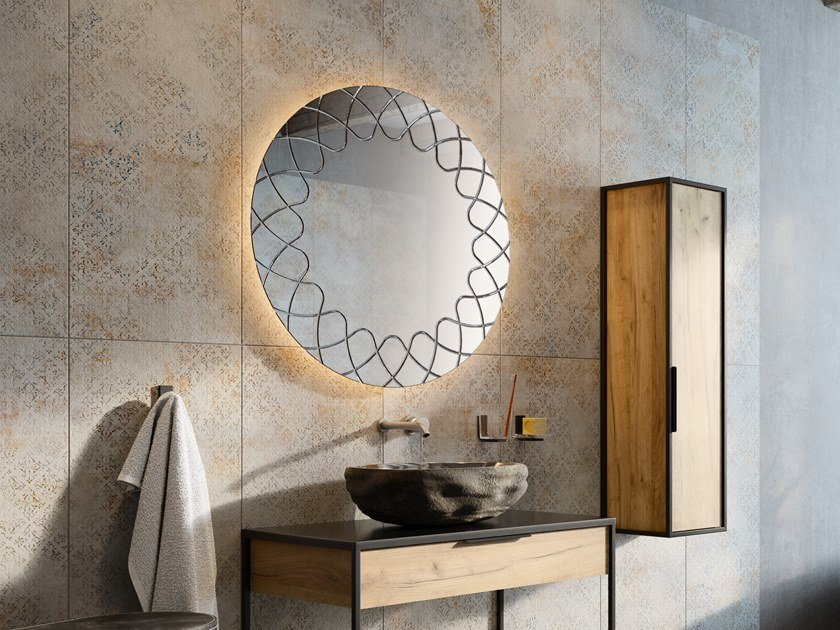 GRAFFI   Specchio rotondo