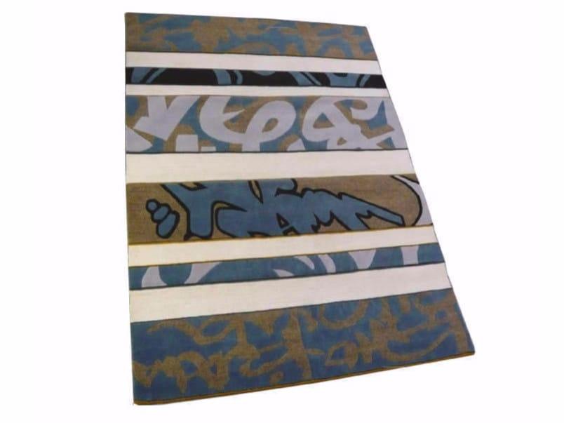 Patterned handmade rectangular rug GRAFFITI by Garbarino