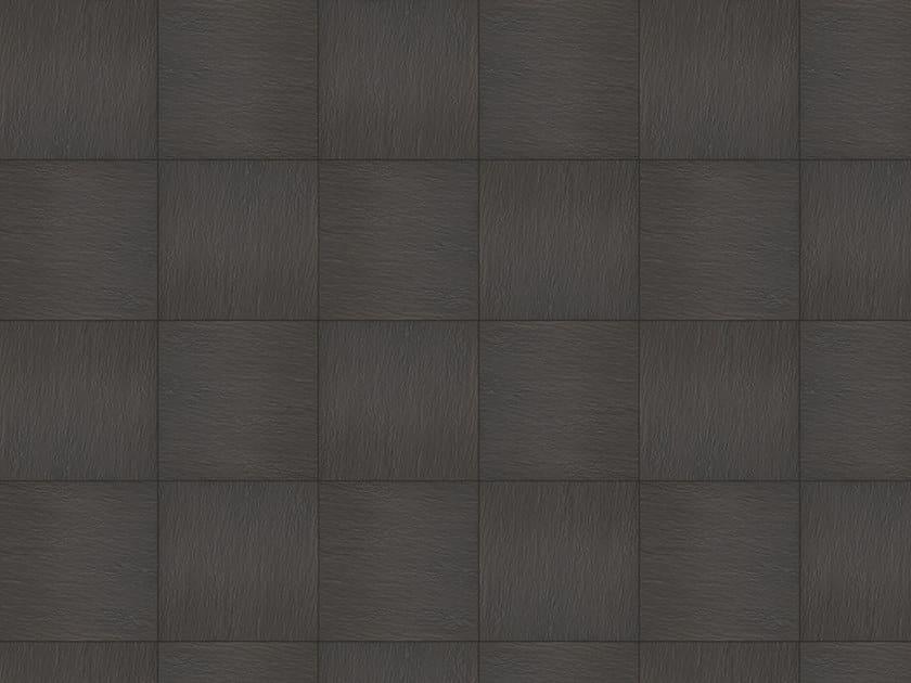 Porcelain stoneware outdoor floor tiles with stone effect GRAFFITI NERO by GRANULATI ZANDOBBIO