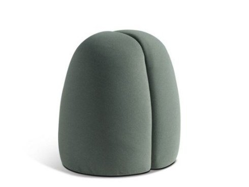 Fabric pouf GRAIN by ROCHE BOBOIS