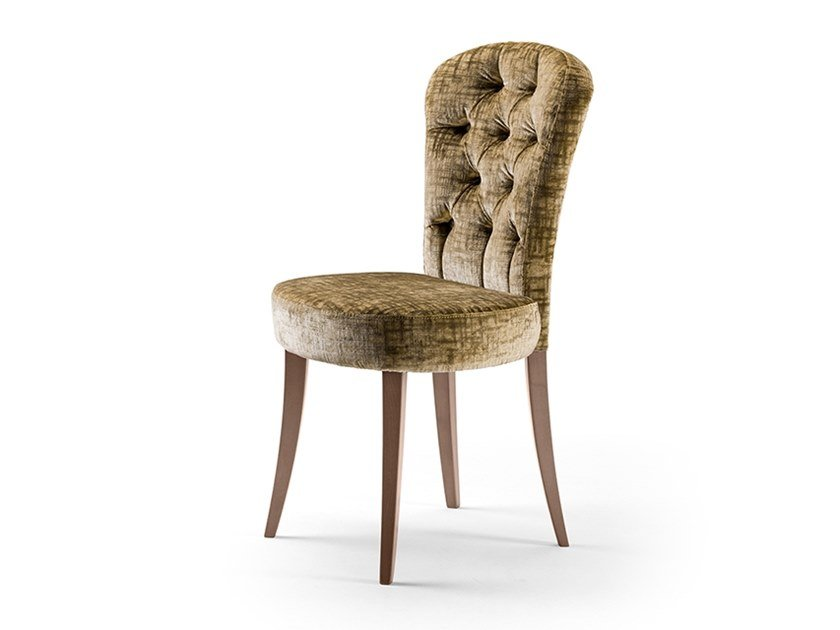 Tufted upholstered fabric chair GRAN DUCA | Chair by Prestige