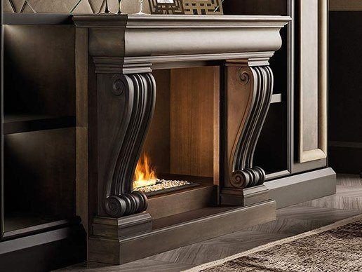 Wooden Fireplace Mantel GRAN DUCA | Fireplace Mantel by Prestige