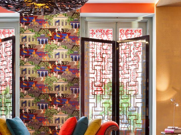 Tessuto da parete lavabile GRAN MOGOL   Tessuto in velluto by Equipo DRT