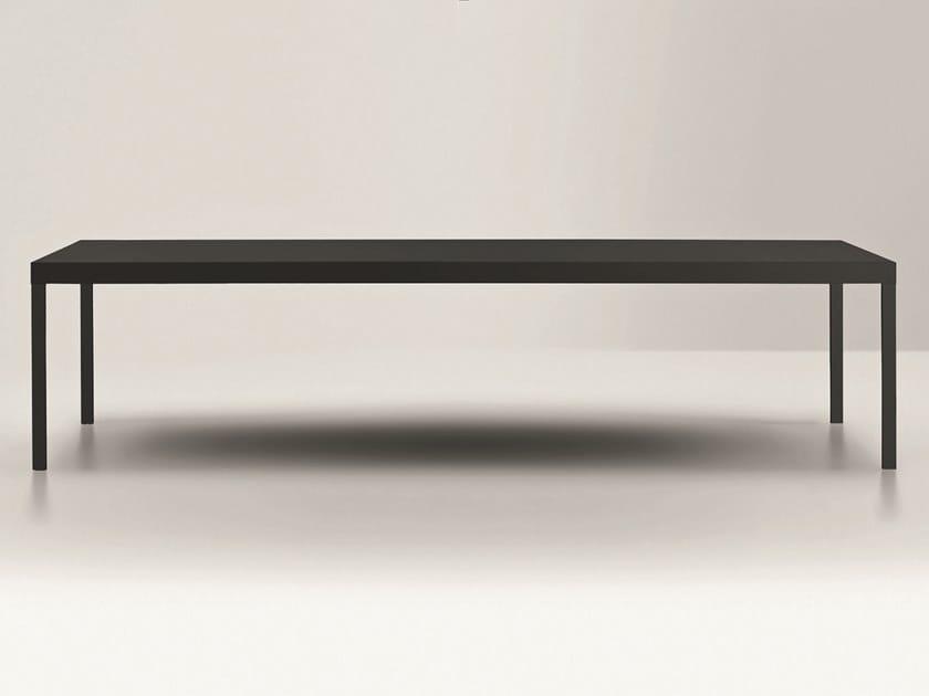 Lacquered rectangular aluminium table GRAND ECART | Rectangular table by Pallucco