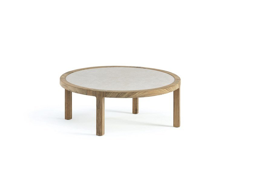 Round ceramic coffee table GRAND LIFE | Round coffee table by Ethimo