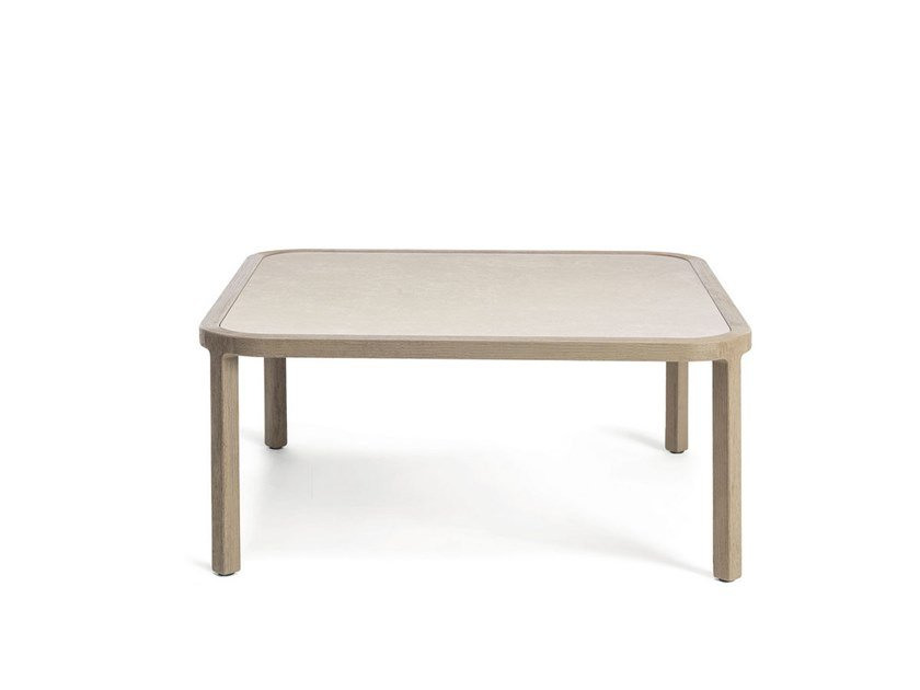 Square ceramic coffee table GRAND LIFE | Square coffee table by Ethimo