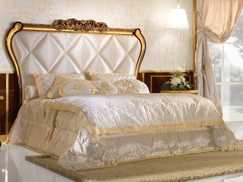 Double bed with upholstered headboard GRAND ROYAL | Bed with high headboard by A.R. Arredamenti