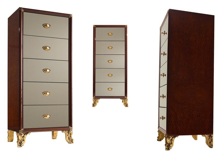 Chest of drawers GRAND ROYAL   Mirrored glass chest of drawers by A.R. Arredamenti