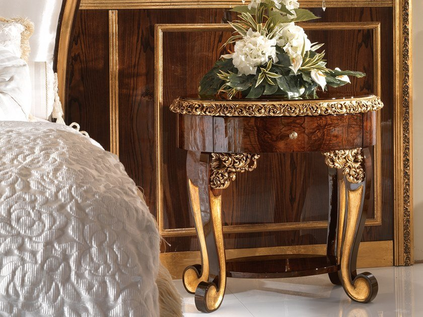 Oval bedside table with drawers GRAND ROYAL | Oval bedside table by A.R. Arredamenti