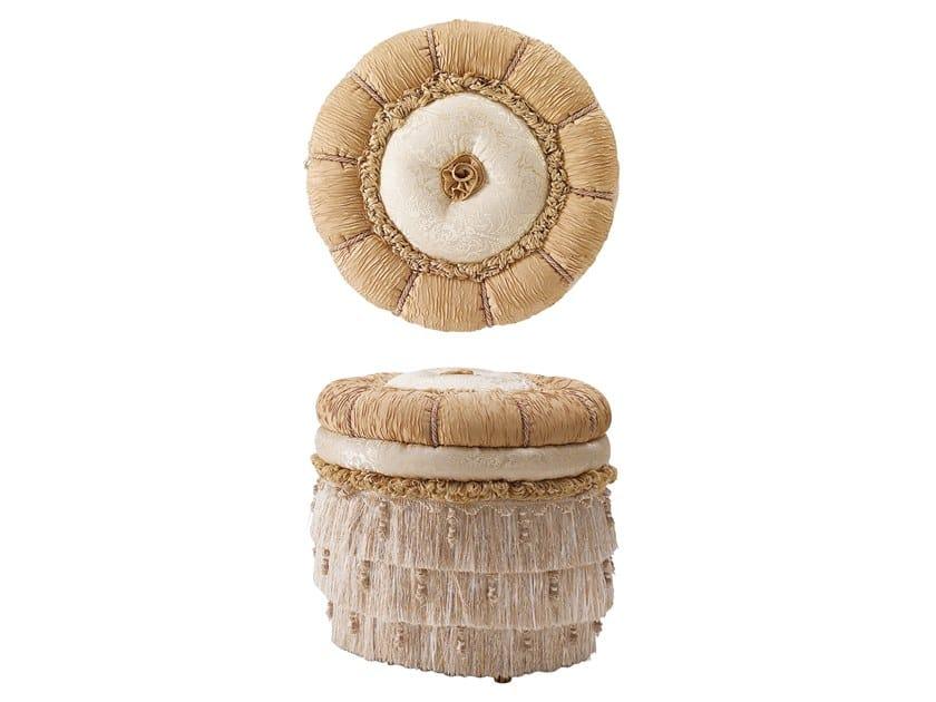 Round fabric pouf GRAND ROYAL | Round pouf by A.R. Arredamenti