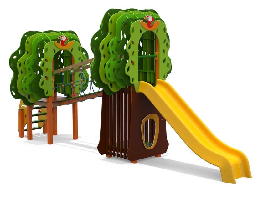 Polyethylene Play structure GRANDE BOSCO by Stileurbano