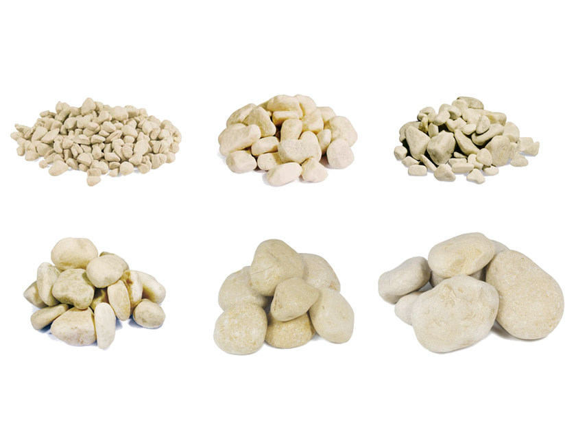 Natural stone decorative pebbles PEBBLE MORI YELLOW by Bernardelli Group