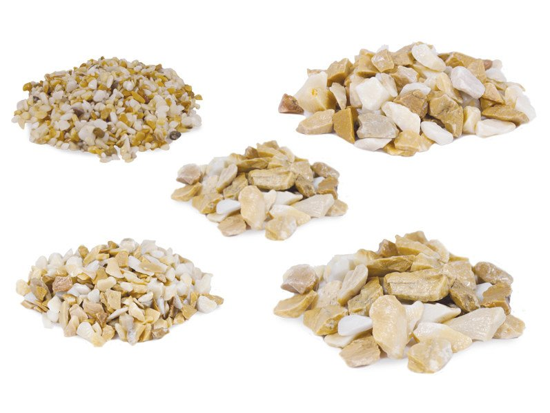 Natural stone decorative chipping CRUSHED ROCK SIENA YELLOW by Bernardelli Group