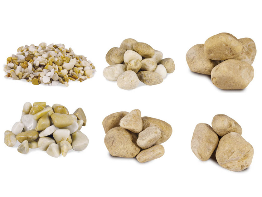 Natural stone decorative pebbles PEBBLE SIENA YELLOW by Bernardelli Group