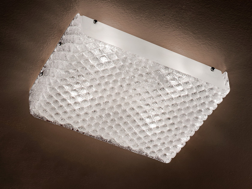 Direct light marble grit ceiling light GRANIGLIA VE 1140 by Masiero