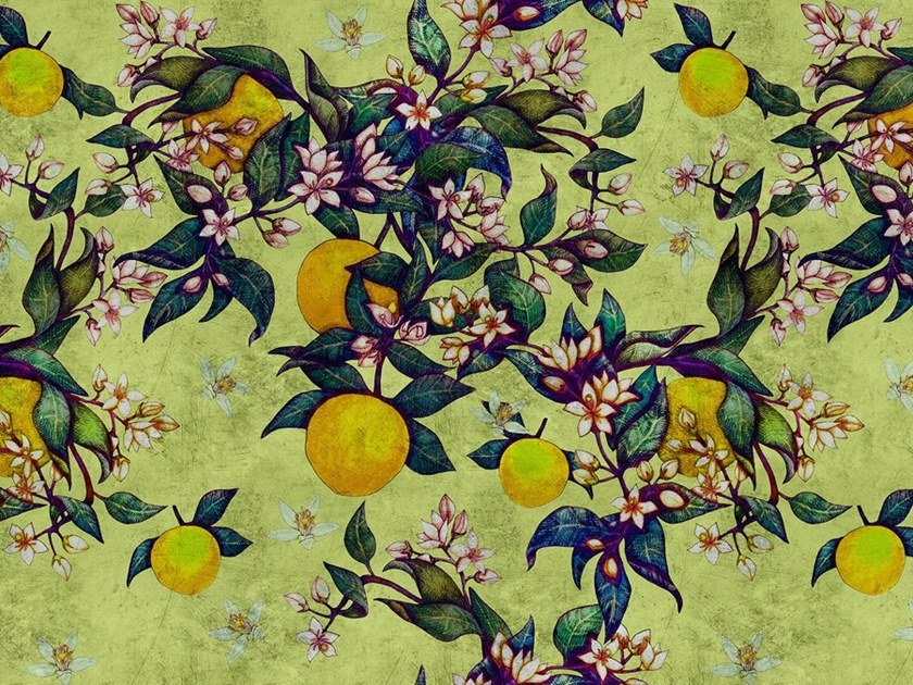 Digital printing wallpaper GRAPEFRUIT TREE by Architects Paper