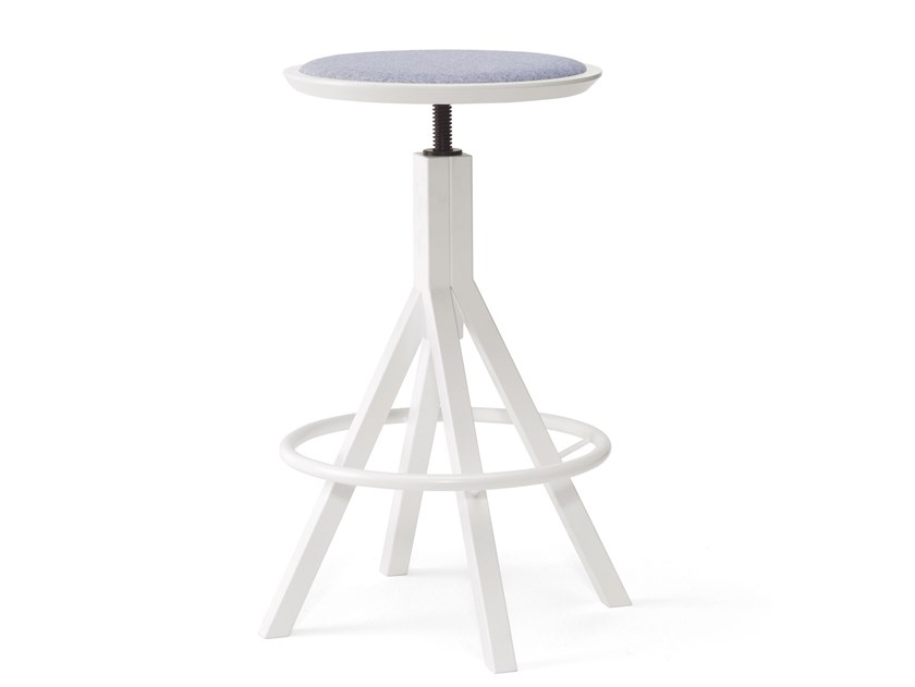 Height-adjustable metal stool with footrest GRAPEVINE | Height-adjustable stool by BILLIANI