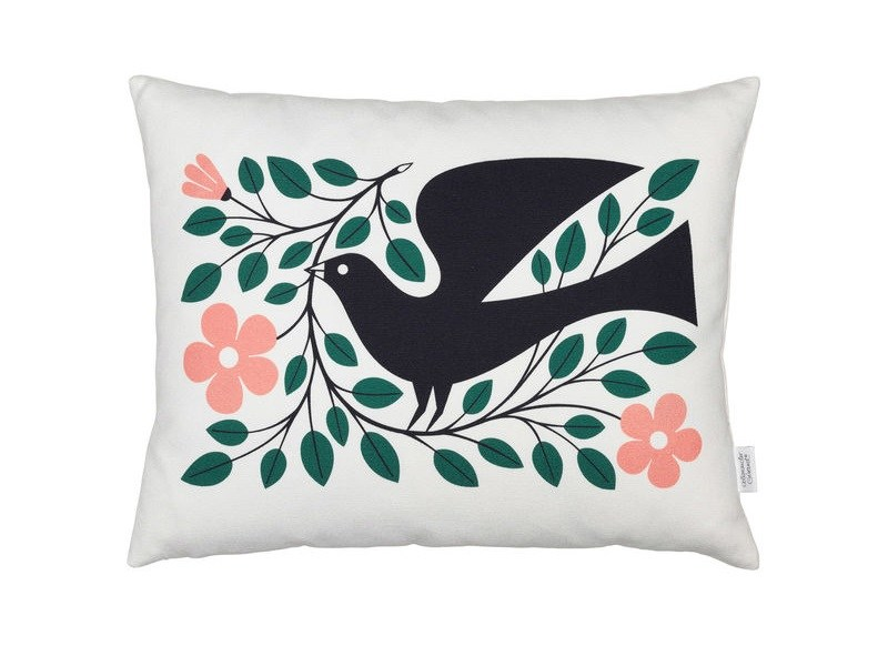 Rectangular cotton cushion GRAPHIC PRINT DOVE by Vitra