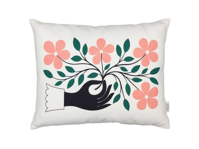 Rectangular cotton cushion GRAPHIC PRINT HAND by Vitra