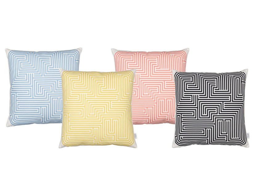 Square geometric cushion GRAPHIC PRINT MAZE by Vitra