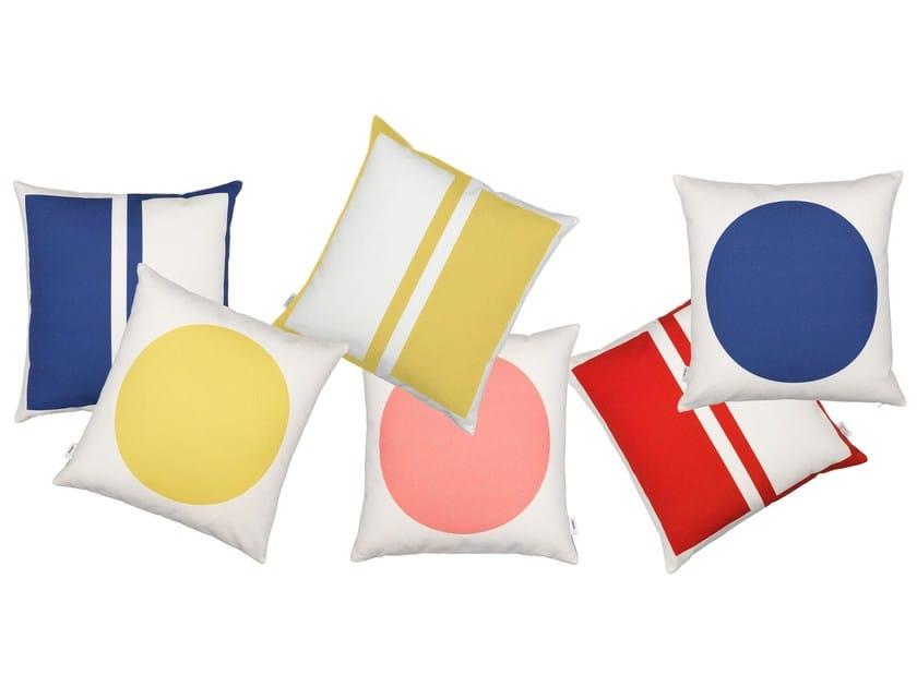 Square geometric cushion GRAPHIC PRINT RECTANGLES/CIRCLE by Vitra