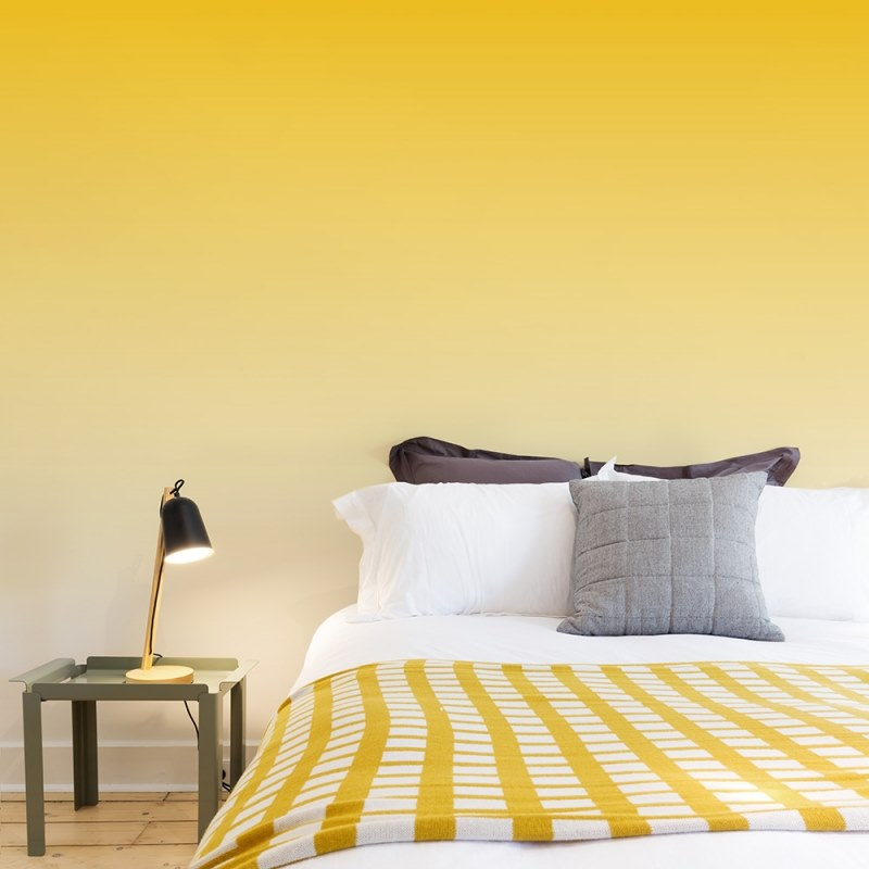 Contemporary style solid-color washable panoramic JET TEX wallpaper GRAPHIC | Yellow by ACTE-DECO