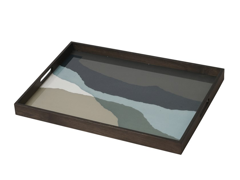 Rectangular glass tray GRAPHITE WABI SABI   Rectangular tray by Notre Monde