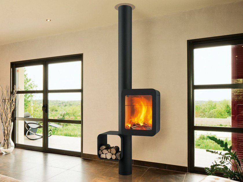 Wood-burning steel stove GRAPPUS by Focus creation