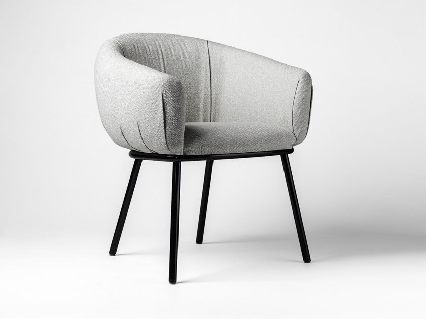 Upholstered fabric chair GRASSO | Fabric chair by BD Barcelona Design