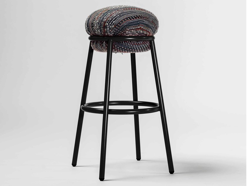 High upholstered fabric stool GRASSO | Fabric stool by BD Barcelona Design